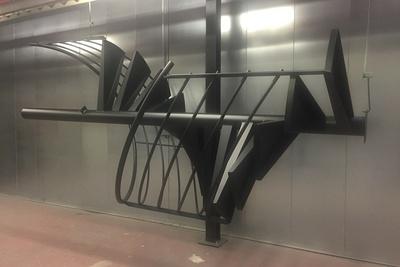 Sablage et thermolaquage escalier métal hélicoïdal