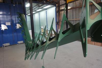Sablage et thermolaquage escalier métal