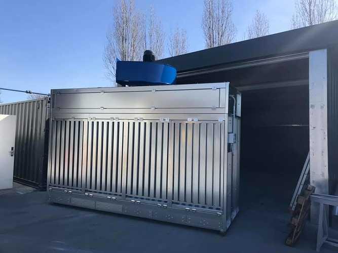 Nouvelle cabine de métallisation chez CMTP 0