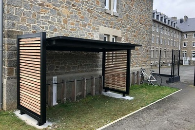 Abri à vélo en acier galvanisé et bois - Douglas - Saint-Brieuc