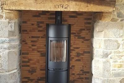 Avaloir de cheminée en acier brut