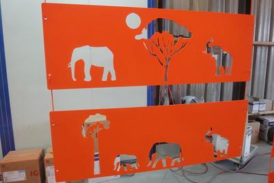 Découpe laser, sablage, thermolaquage pour décoration chambre d''enfant