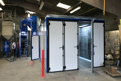 Nouvelle cabine de sablage