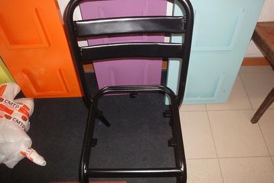 Sablage et thermolaquage chaises métal