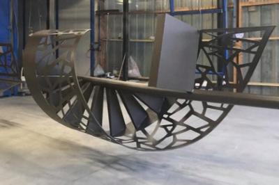 Sablage et thermoloquage escalier hélicoïdale