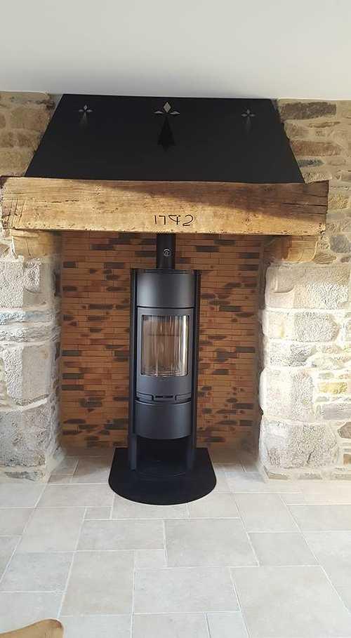 Avaloir de cheminée en acier brut 0