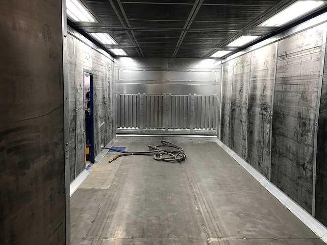 Nouvelle cabine de sablage cabineouverte