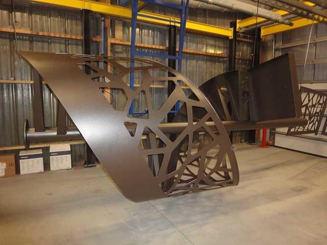 Sablage et thermoloquage escalier hélicoïdal dsc09717