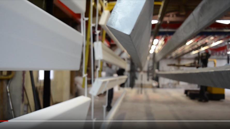 Thermolaquage : chargement du four de 12m avec système de 5 rails 0