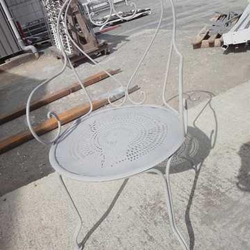 Sablage et thermolaquage de salons de jardin, de garde-corps, de portails, d''éléments décoratifs chaisejardin