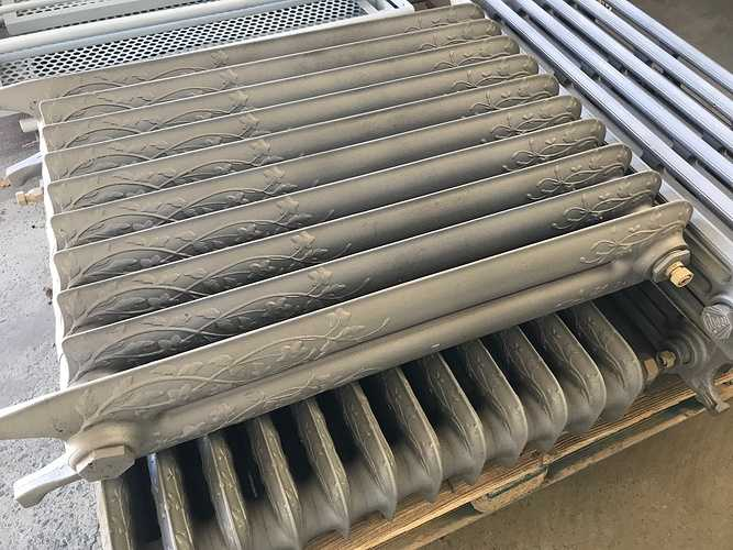 Sablage et thermolaquage de radiateurs en fonte 0