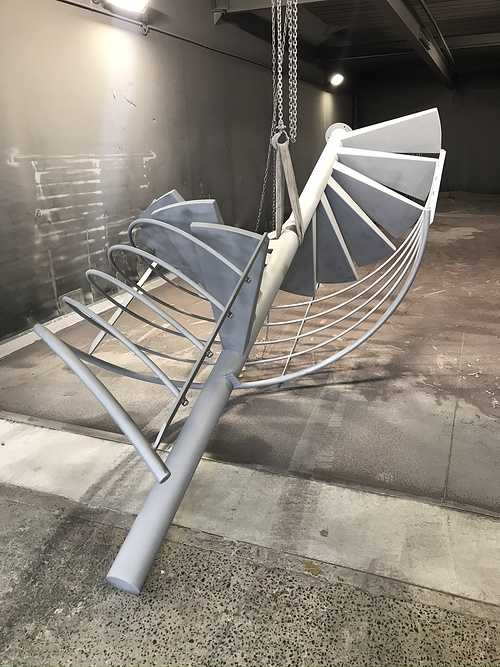 Sablage et thermolaquage escalier métal hélicoïdal sablageeschelicoidal1