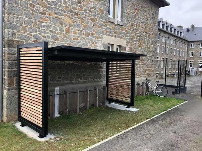 Abri à vélo en acier galvanisé et bois - Douglas - Saint-Brieuc 0