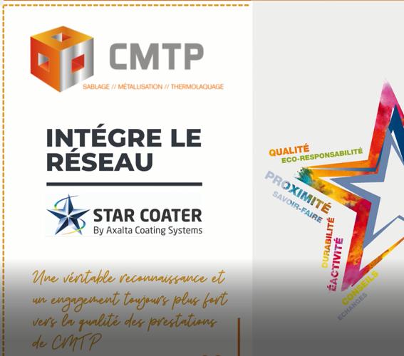 Mai 2021 : CMTP intègre le réseau STAR COATER 0